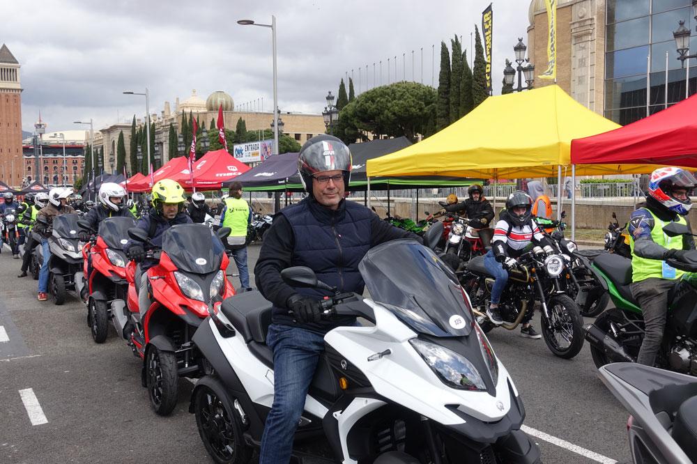 Zona de pruebas en el Salón Vive la Moto de Barcelona