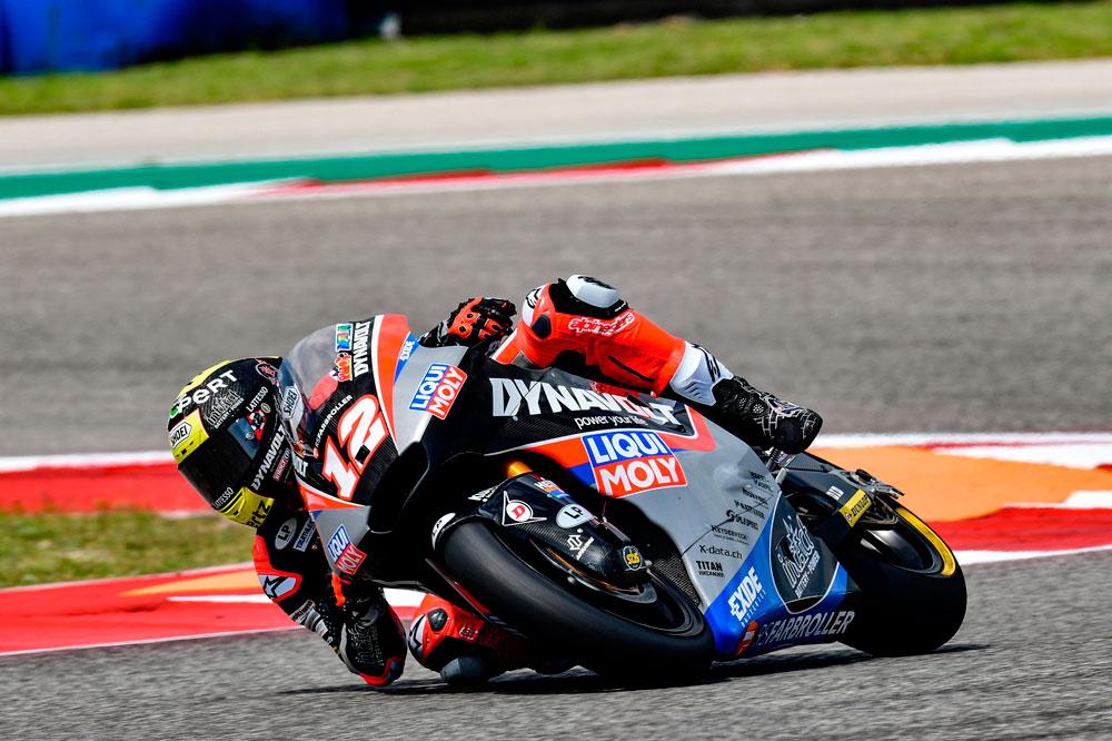 Thomas Luthi logró la victoria para el Dinavolt Team en la categoría Moto2 del GP Américas