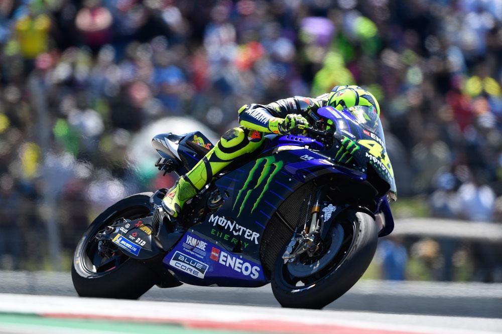 Valentino Rossi llega segundo en la clasificación provisional del Mundial de MotoGP al GP de España