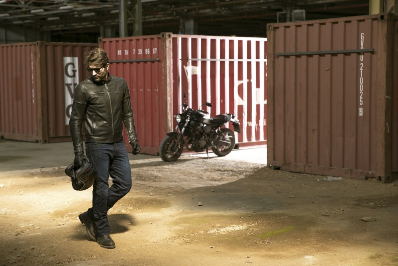 Chaqueta moto Black Cafe de Hevik