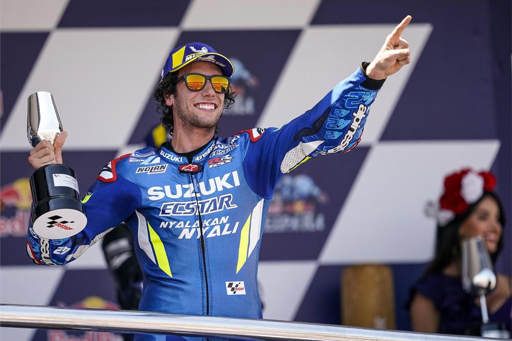 La segunda posición de Alex Rins fue la otra gran noticia del GP de España en MotoGP