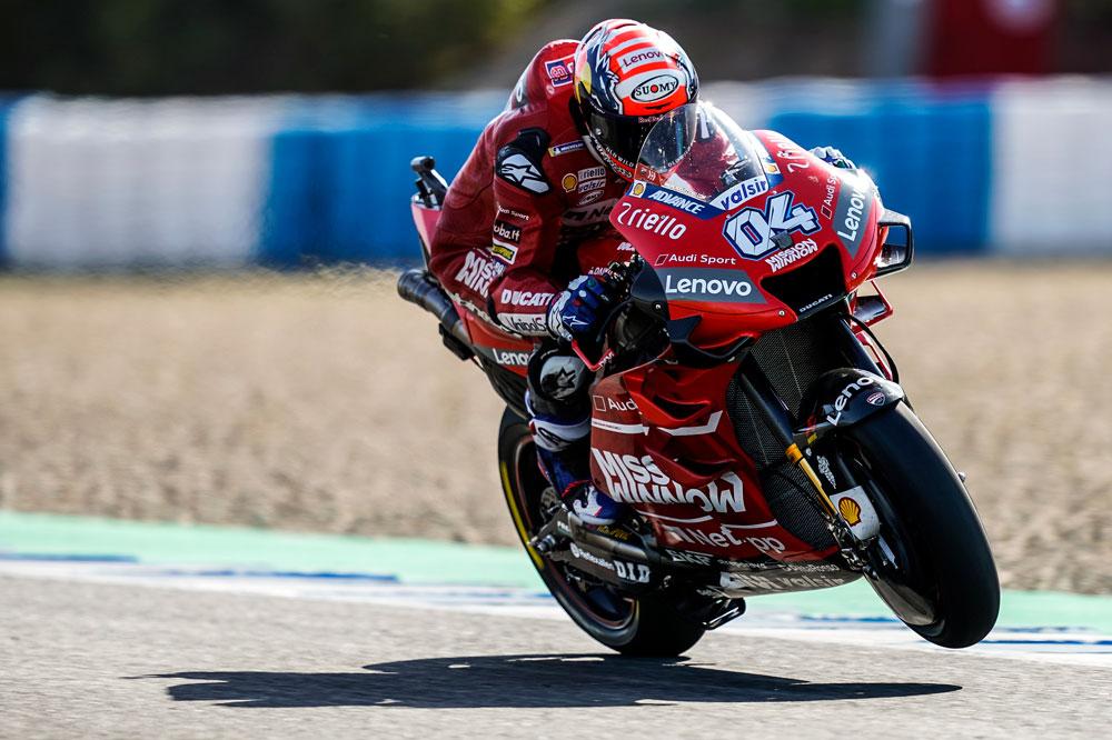 Andrea Dovizioso llega a España como líder del Mundial de MotoGP