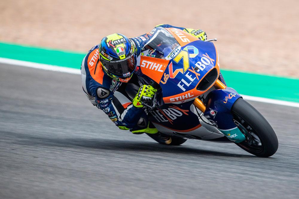 Victoria de Lorenzo Baldassarri en la categoría Moto2 del GP de España