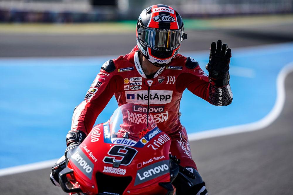 Danilo Petrucci ha marcado el mejor tiempo durante la jornada de entrenamientos del Gran Premio de España de Motociclismo