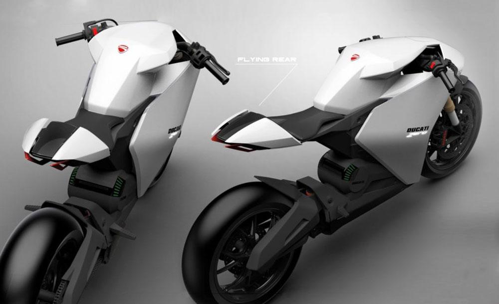 La Ducati Zero es el prototipo de moto eléctrica de la firma de Borgo Panigale