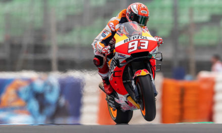 Triplete de pilotos en MotoGP: Márquez, Rins y Viñales. GP de España