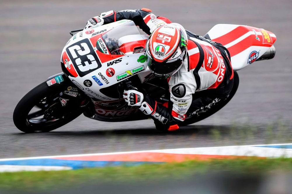 Niccolo Antonelli logró la victoria en la categoría Moto3 del GP de España