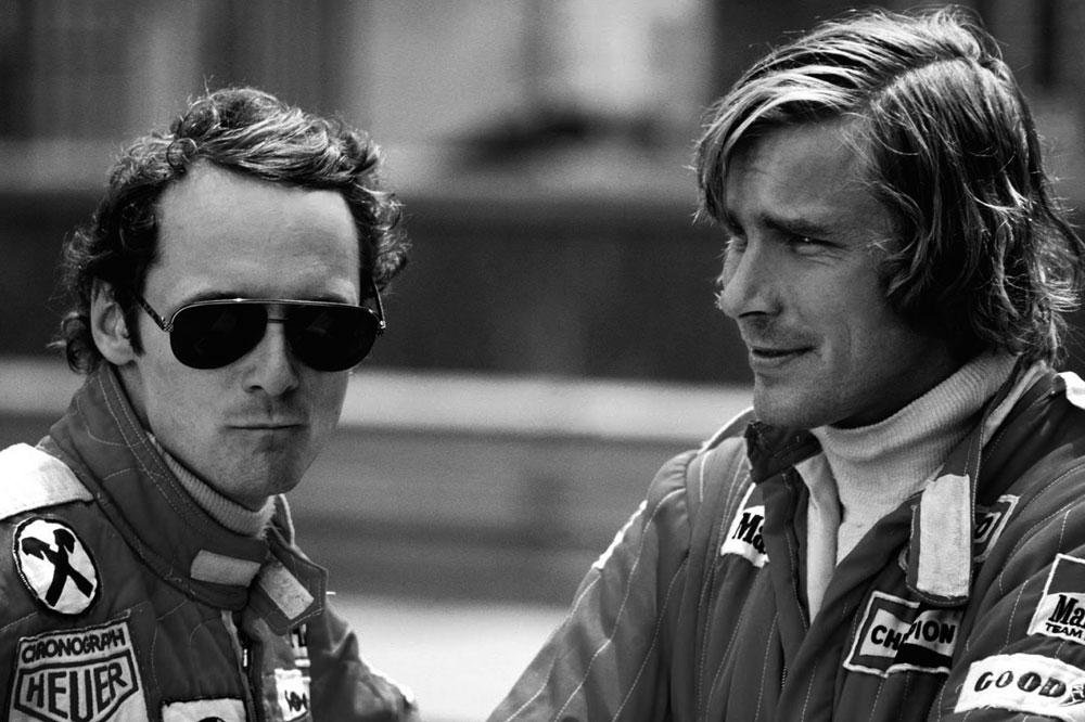 Niki Lauda y James Hunt, eternos rivales en Fórmula 1