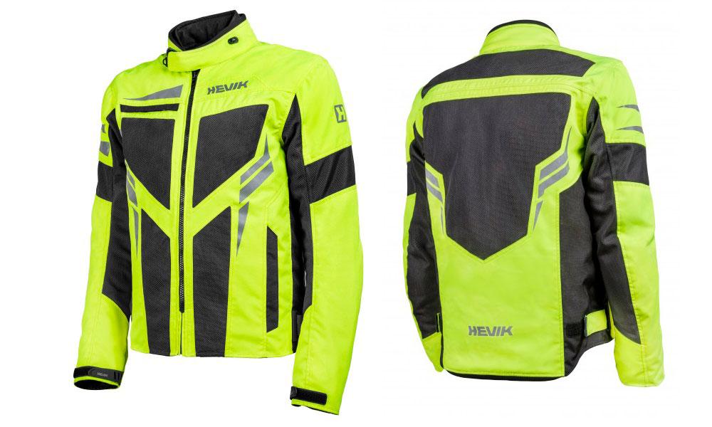 Chaqueta para moto de Verano Ikaro de Hevik en amarillo