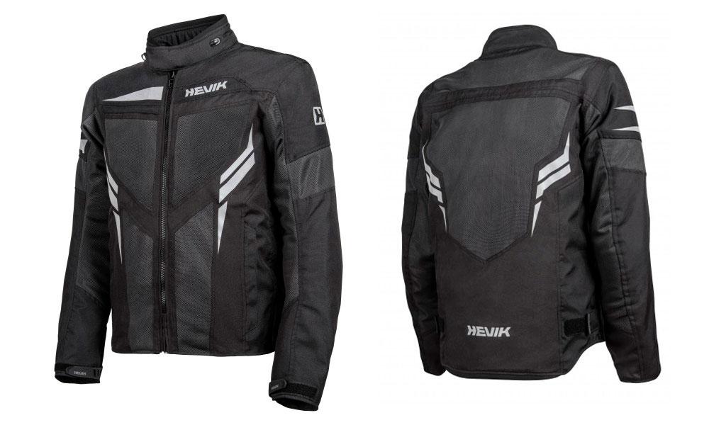 Chaqueta para moto de Verano Ikaro de Hevik en negro