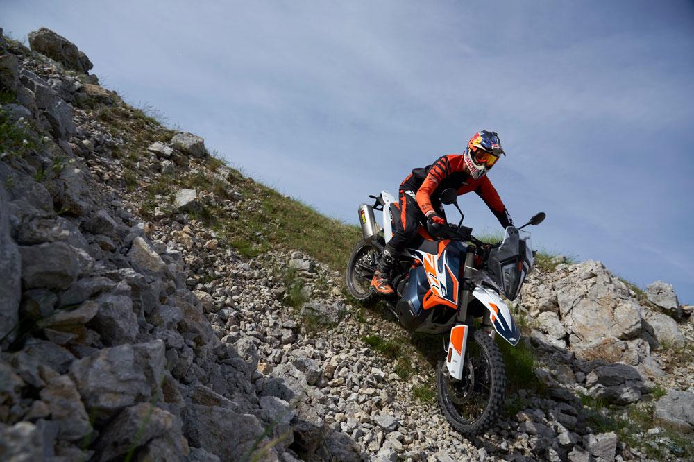 La KTM 790 Adventure Rally está pensada para los viajeros más exigentes que quieran una moto trail ágil y deportiva