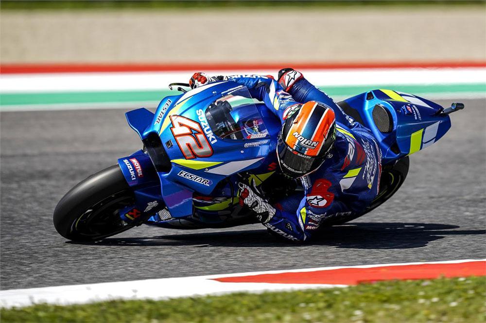 Alex Rins salió décimo tercero y terminó cuarto, el piloto de Suzuki supo mantener bien el ritmo de cabeza del GP de Italia en MotoGP
