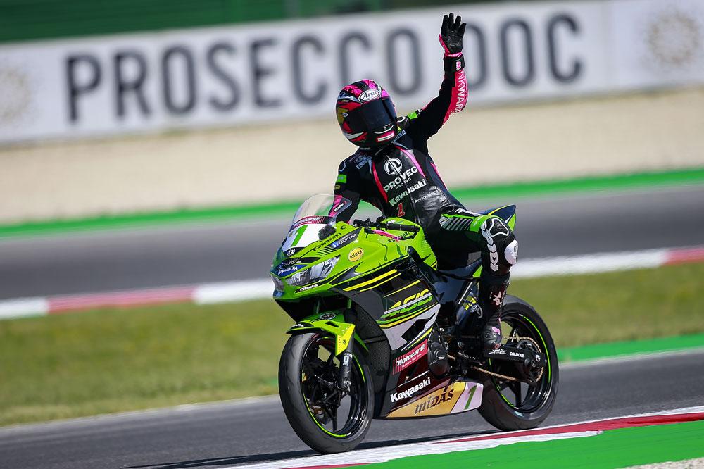 Victoria de Ana Carrasco en la carrera de Misano de Supersport 300