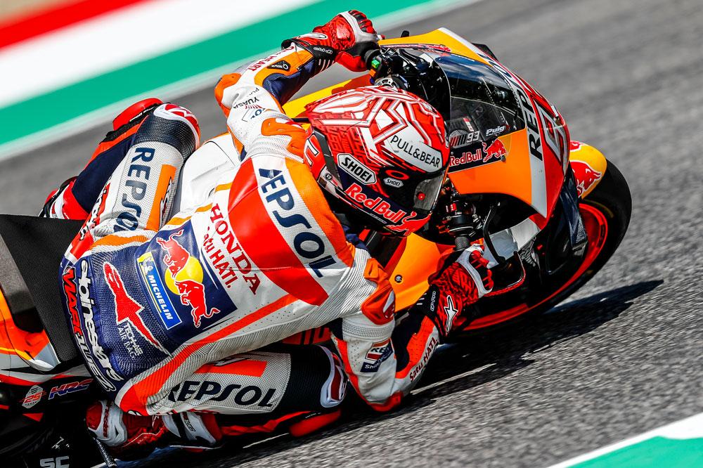 Marc Márquez supo administrar bien las carencias de su Honda en el GP de Italia
