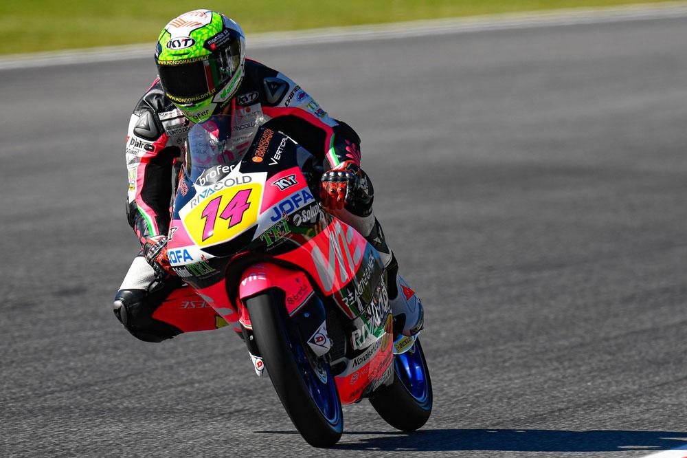Victoria de Tony Arbolino en la categoría Moto3 del GP de Italia