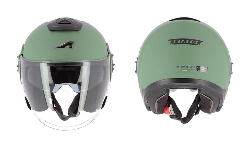 Casco jet Aviator de Astone Helmets verde