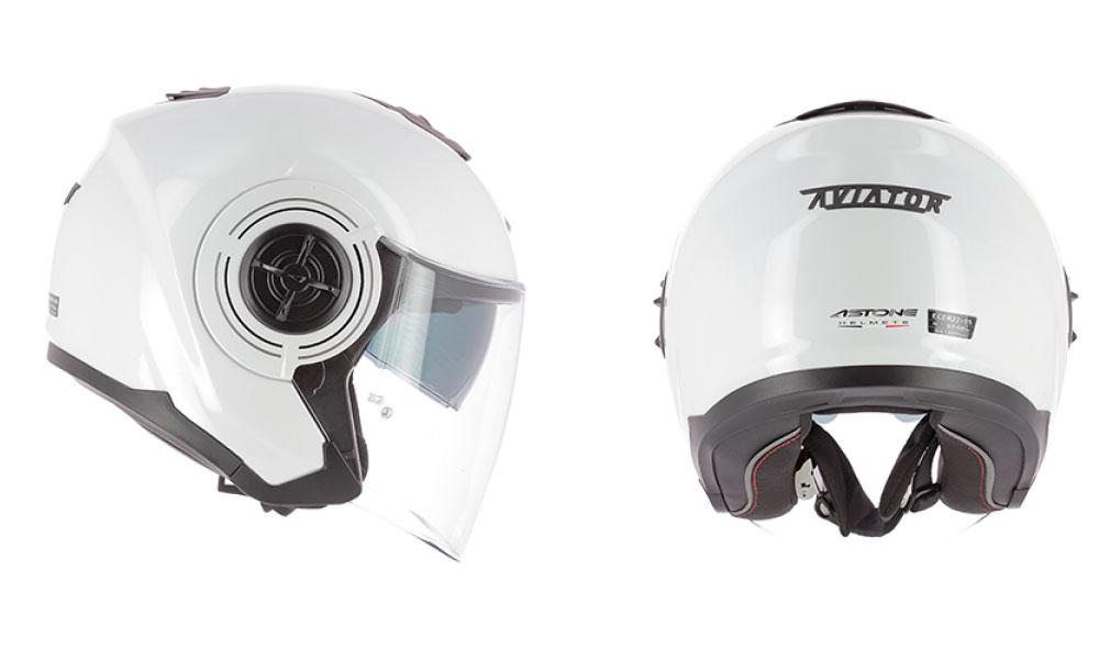 Casco jet Aviator de Astone Helmets blanco