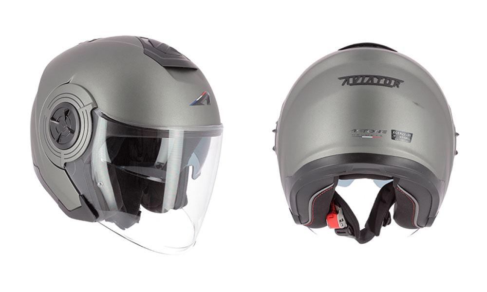 Casco jet Aviator de Astone Helmets gris