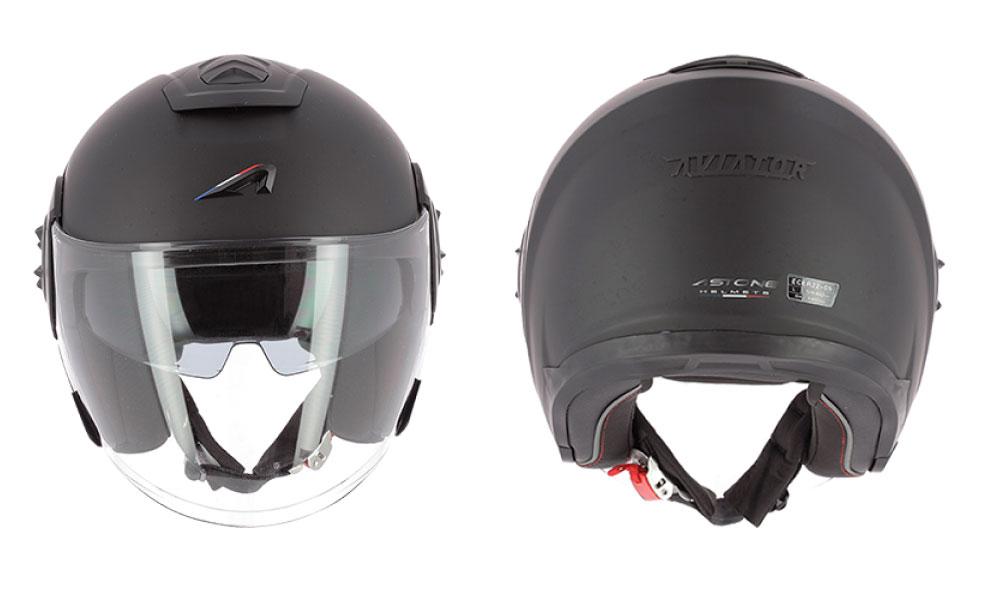Casco jet Aviator de Astone Helmets negro