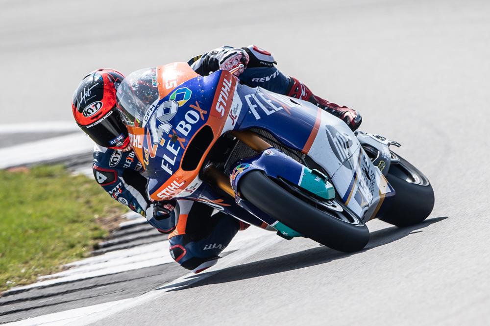Augusto Fernández logró la victoria en Moto2 en el Gran Premio de Gran Bretaña