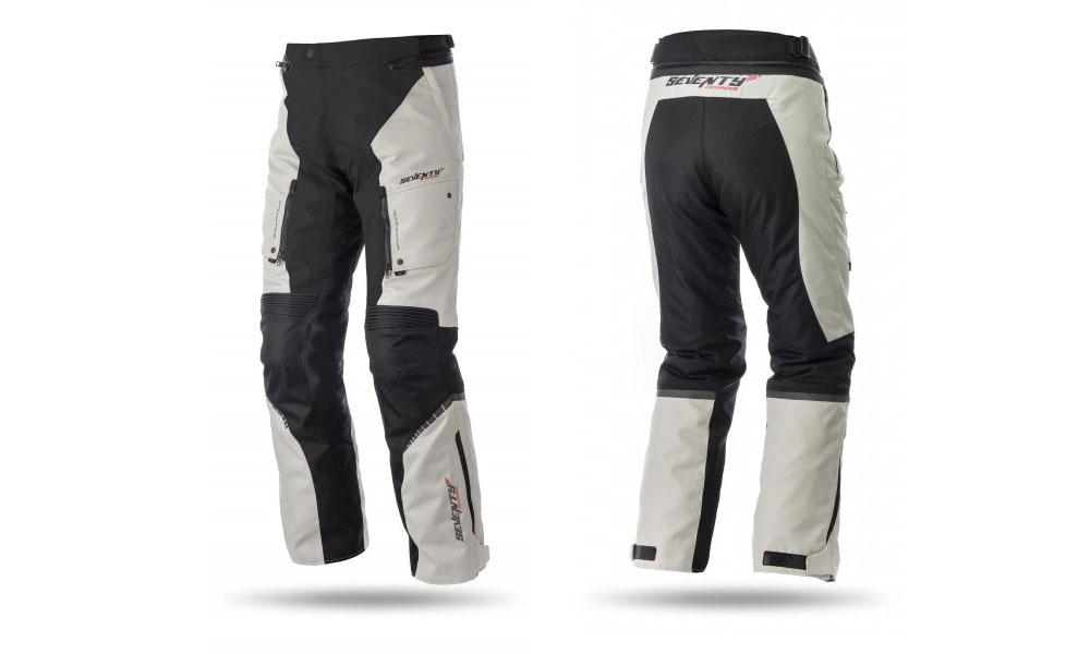 Pantalón moto touring SD-PT1 blanco y negro de Seventy Degrees