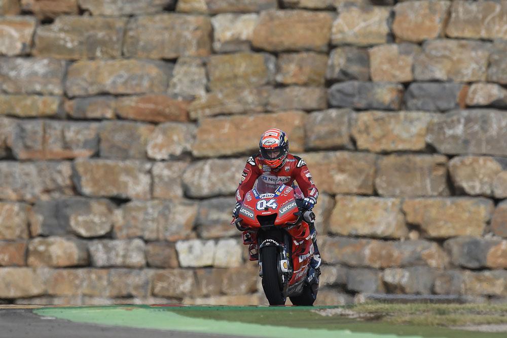 Andrea Dovizioso se reencontró con el podio en el Gran Premio de Aragón