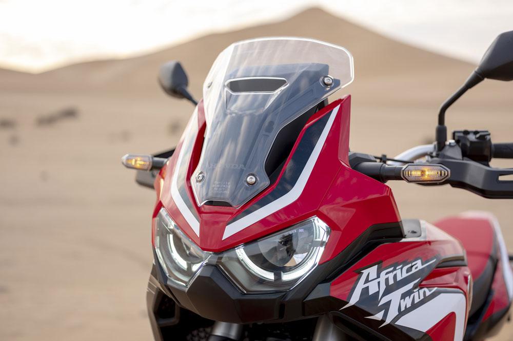 Doble faro delantero de la Honda Africa Twin 2020