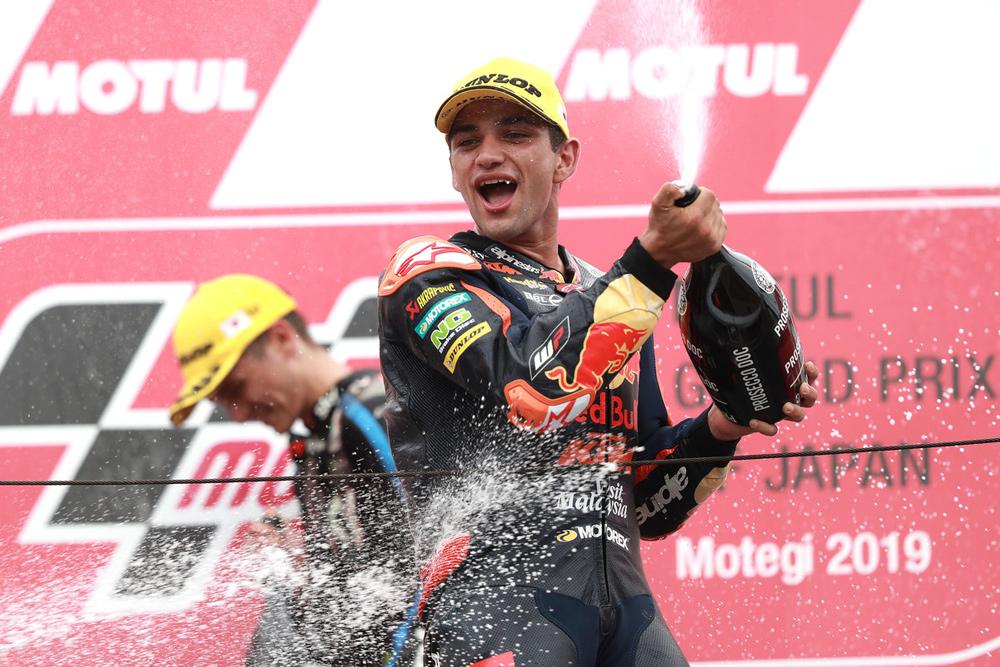 Jorge Martín fue tercero en el GP de Japón, en la categoría Moto2