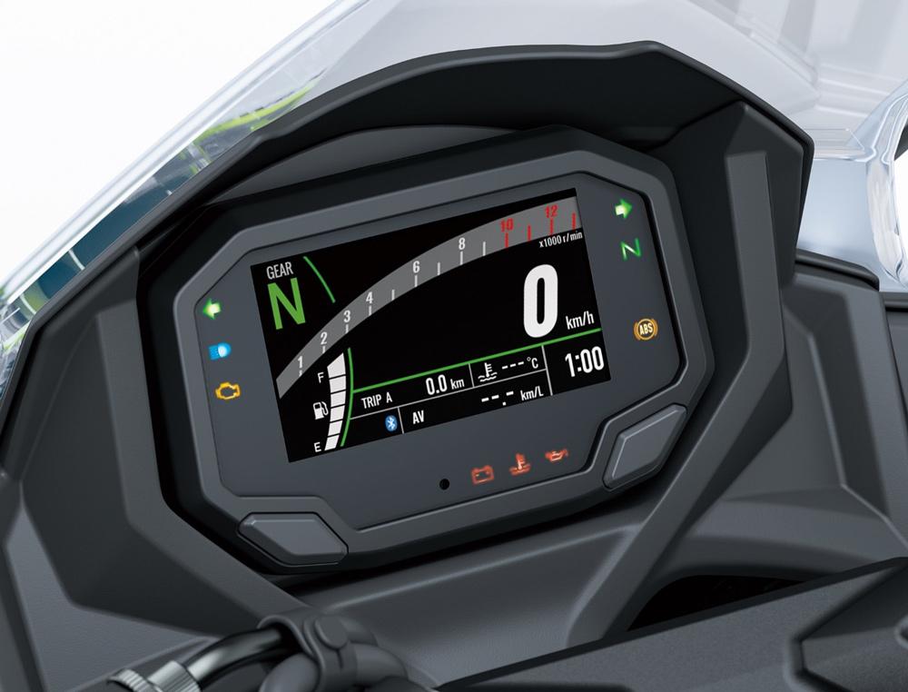 Cuadro de instrumentos de la Kawasaki Ninja 650 2020