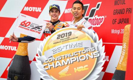 Marquez brinda el título de constructores a Honda en Japón
