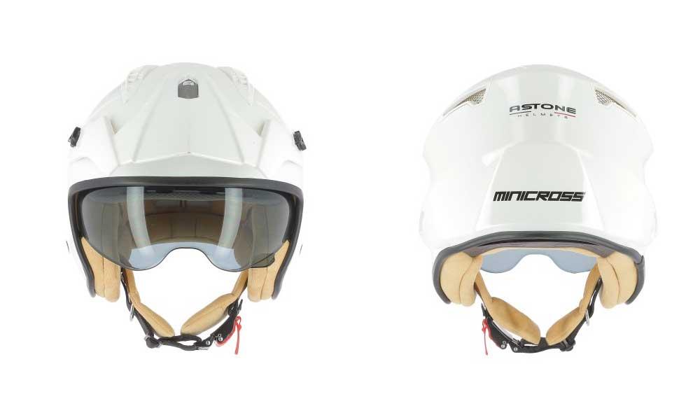 Casco jet Minicross blanco de Astone Helmets