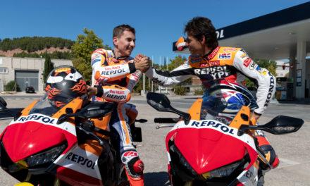Jorge Lorenzo y Alex Crivillé salen juntos a rodar en moto