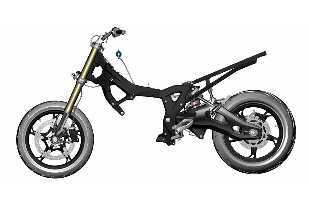 El chasis de la BMW S 1000 XR es ahora más ligero e incorpora de serie suspensiones electrónicas
