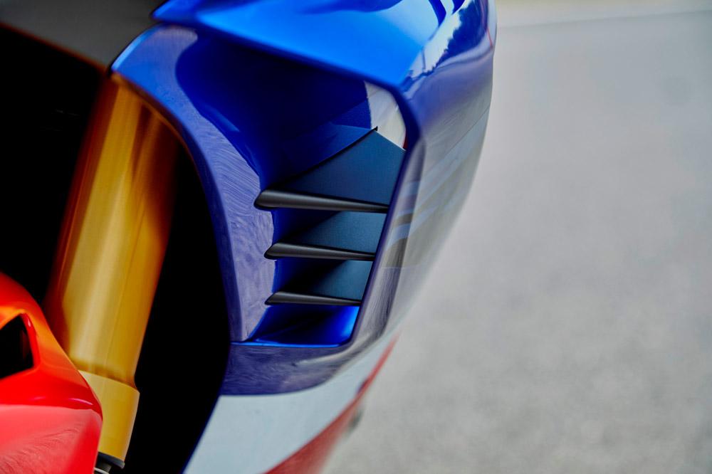 Alerones en el carenado de la Honda CBR 1000 RR-R Fireblade