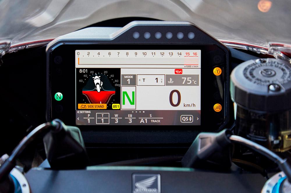 Cuadro de instrumentos de la Honda CBR 1000 RR-R Fireblade 2020
