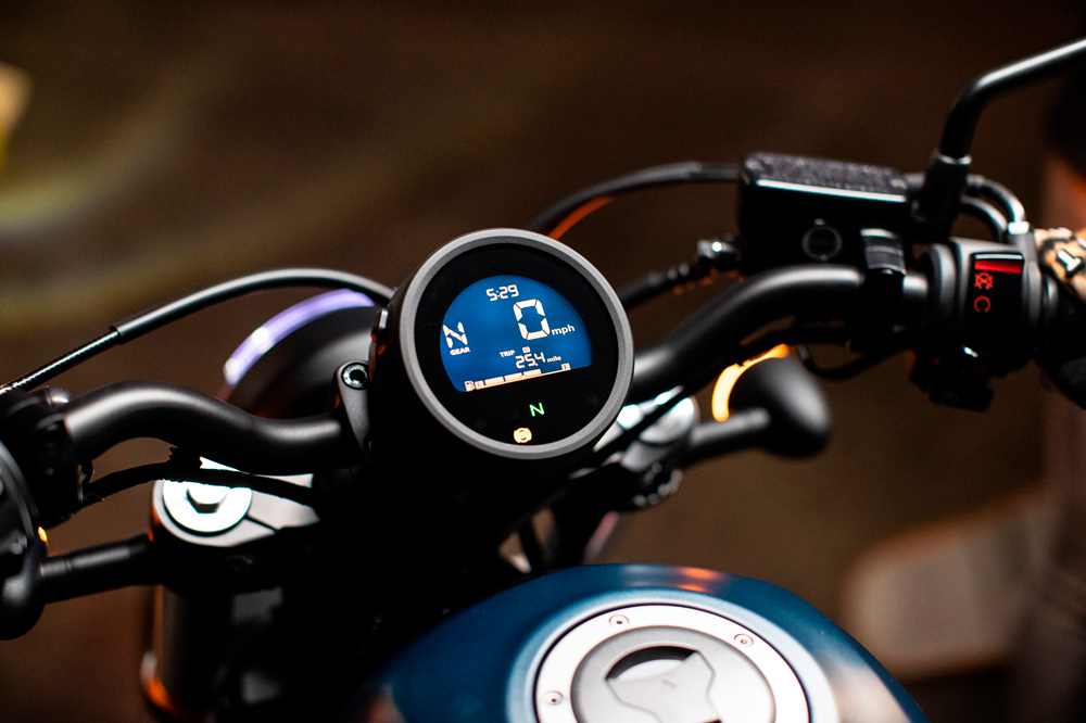 Cuadro de instrumentos de la Honda Rebel 500 2020