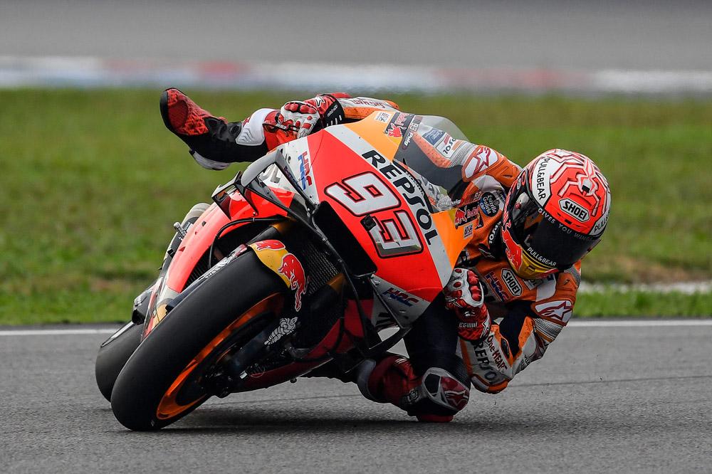 Marc Marquez durante el Gran Premio de Malasia 2019