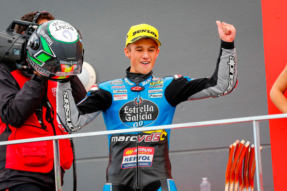 Primera victoria en Moto3 de Sergio García Dols, en el GP de Valencia
