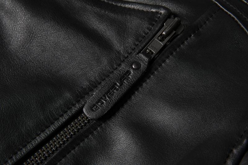 Chaqueta piel Tina de Overlap en negro