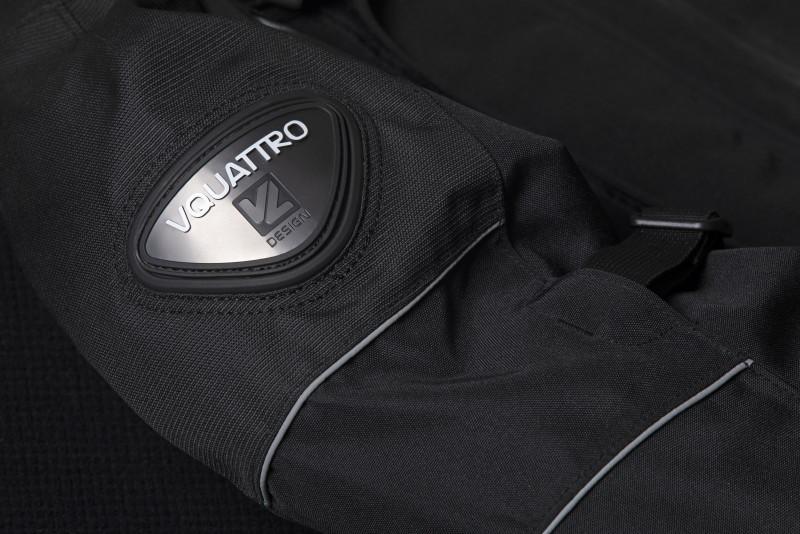 Chaqueta moto Hurry de Vquattro black detalle