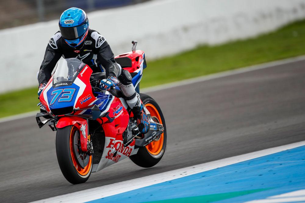 Alex Márquez todavía sin la decoración oficial durante los entrenamientos pretemporada de Jerez