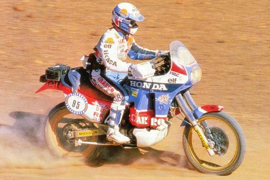Ciryl Neveu con Honda en el Dakar