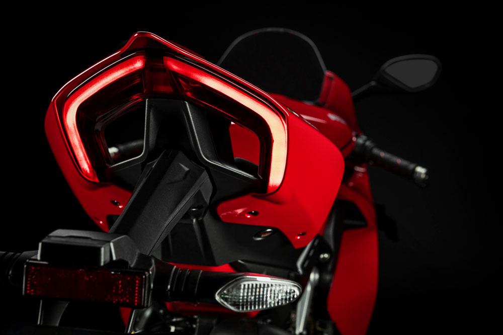 La forma del colín de la Ducati Panigale V4 es una de sus señas de identidad