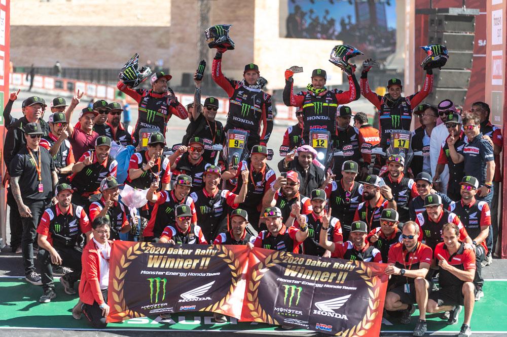 Honda celebra su vuelta a lo más alto del Rally Dakar