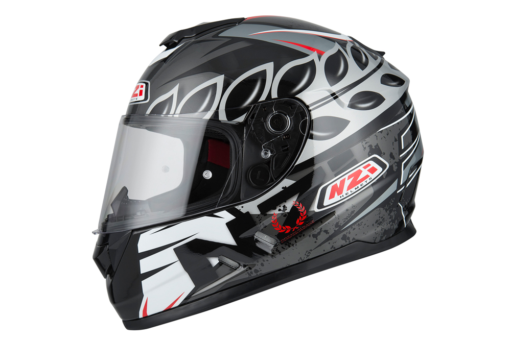 Casco integral Fusion Black Antracite White