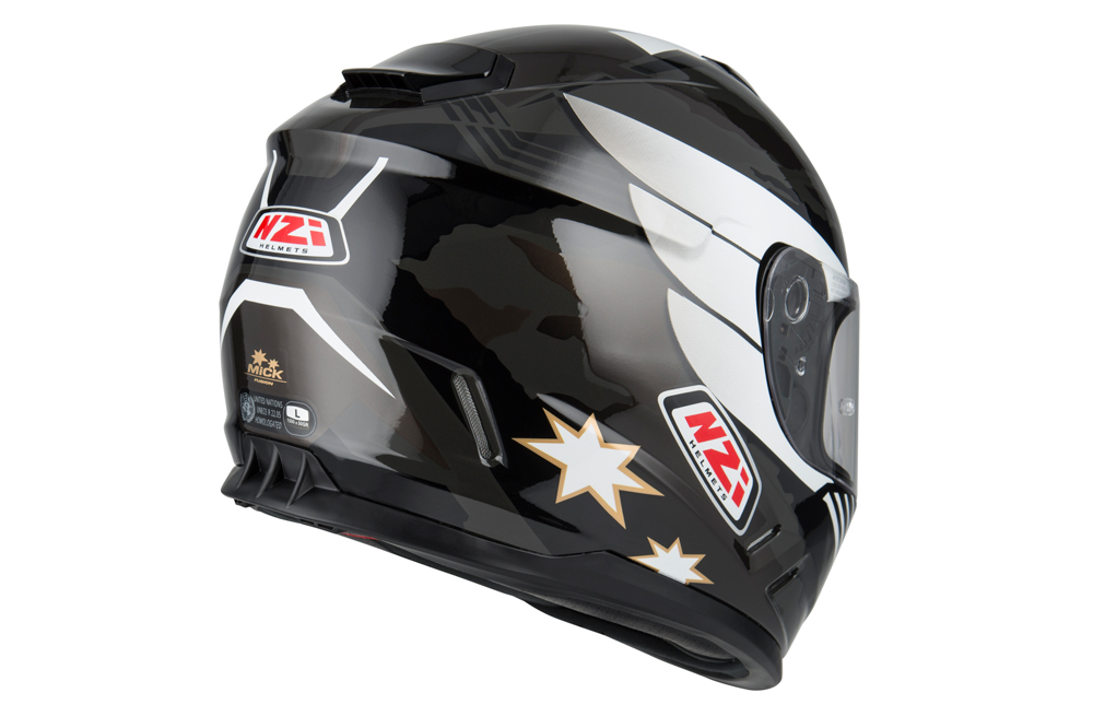 Casco integral Fusion Mick Antracite Black de NZI