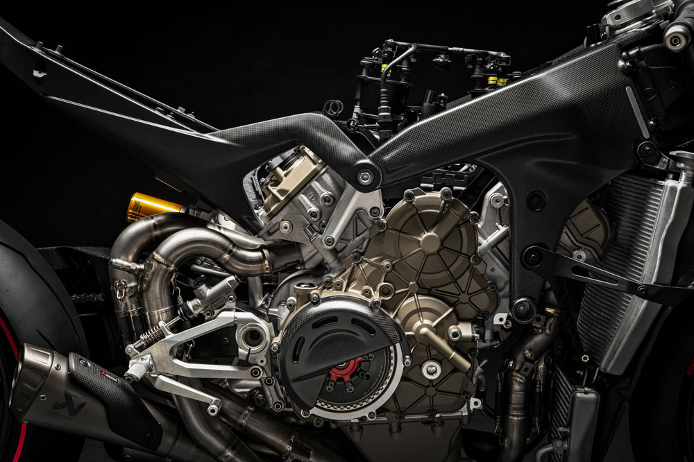 Motor de la Ducati Panigale V4 Superleggera