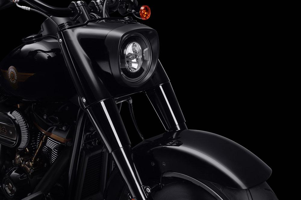 Faro delantero de la Harley Davidson Fat Boy 30 Aniversario