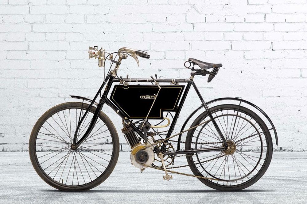 Uno de los primeros modelos de Peugeot Motos