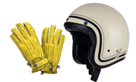 Guantes Second Skin y casco jet Two Stroke de By City